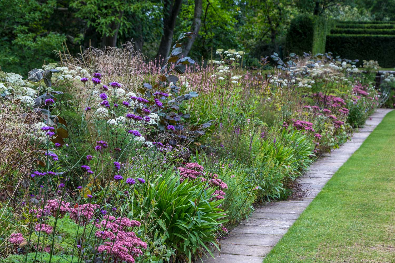 Bodnant Garden, herbaceous border