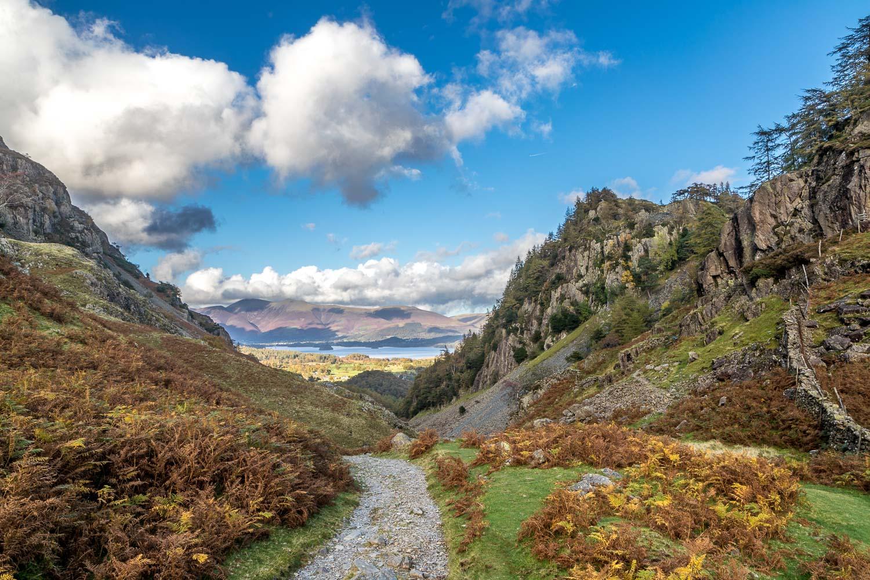 Borrowdale, Derwent Water, Castle Crag