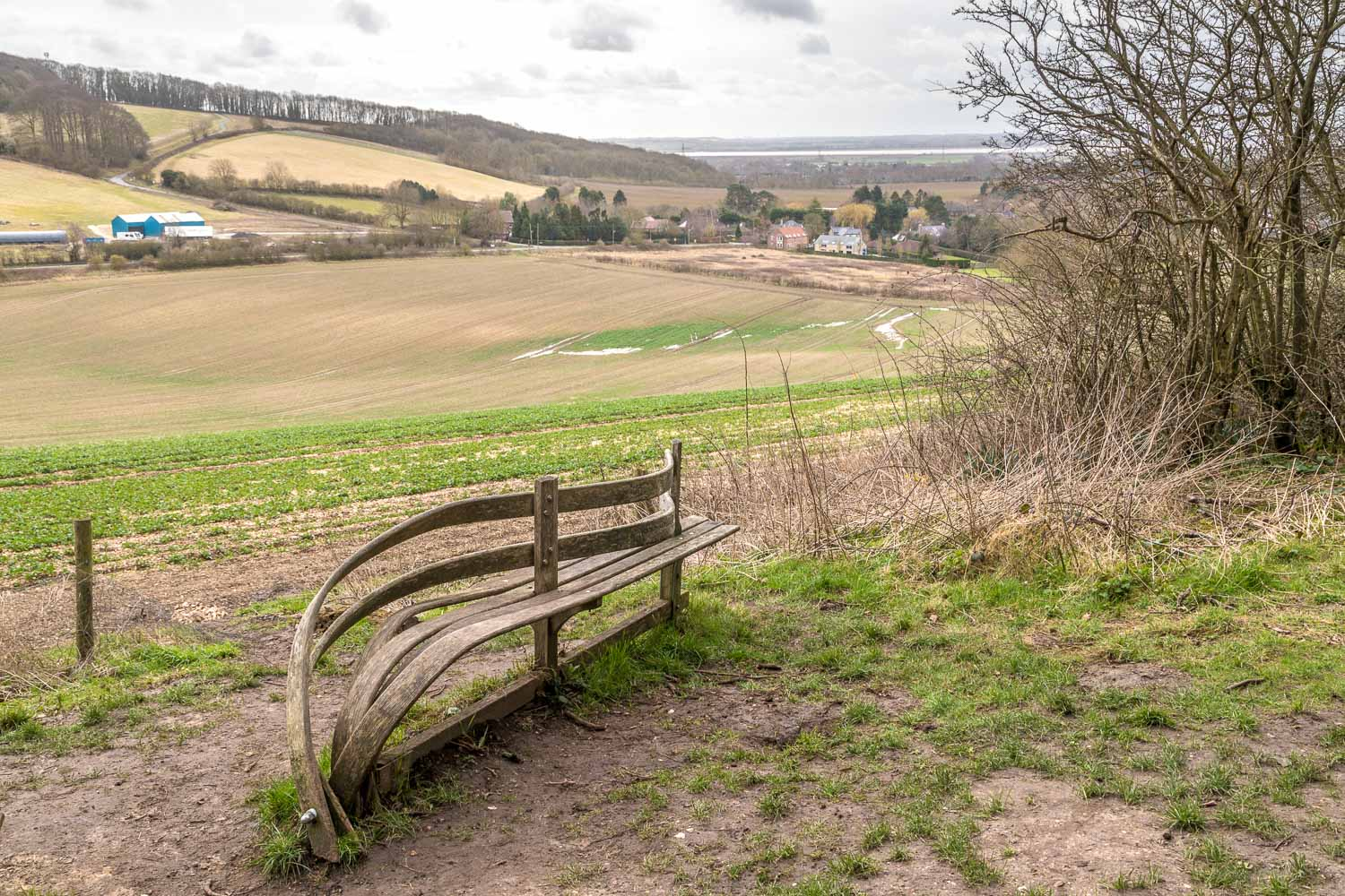 Poetry bench, Yorkshire Wolds Way