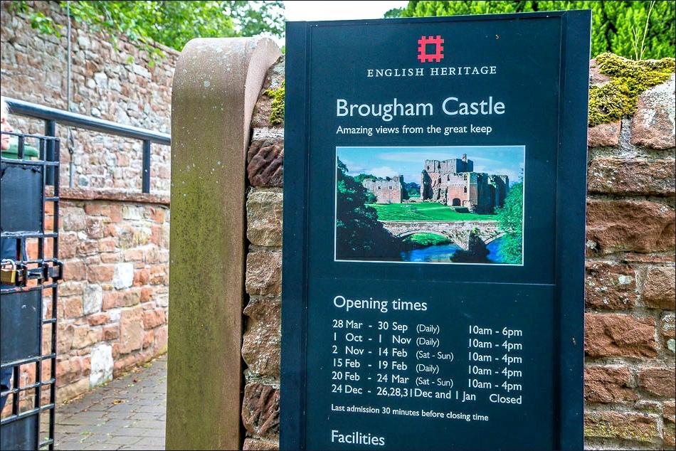 Brougham Castle entrance