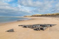 Budle Bay, beach, sea