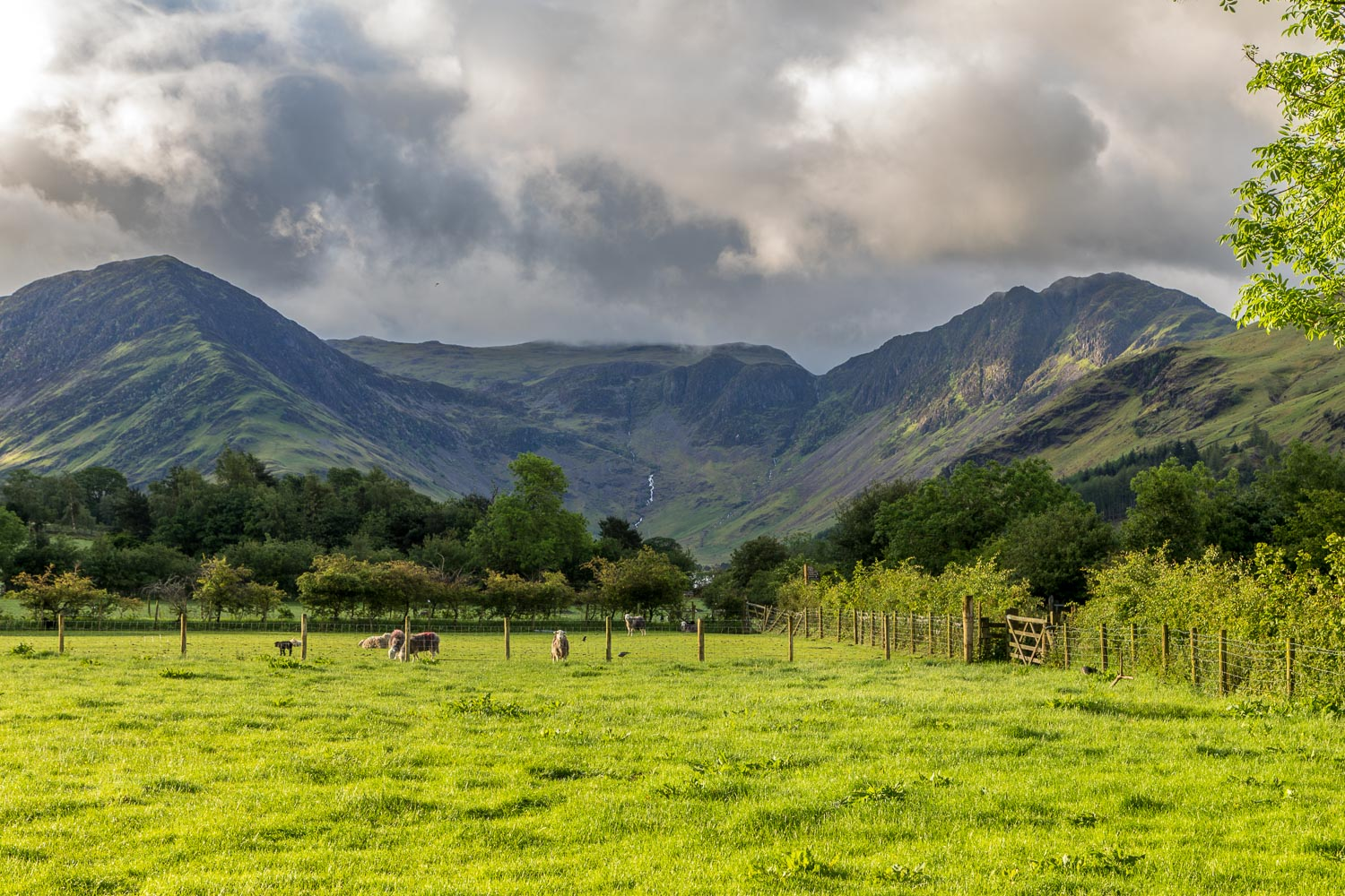 Fleetwith Pike and Haystacks at the head of Buttermere