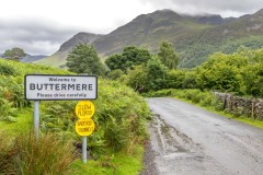 Buttermere, red squirrels sign
