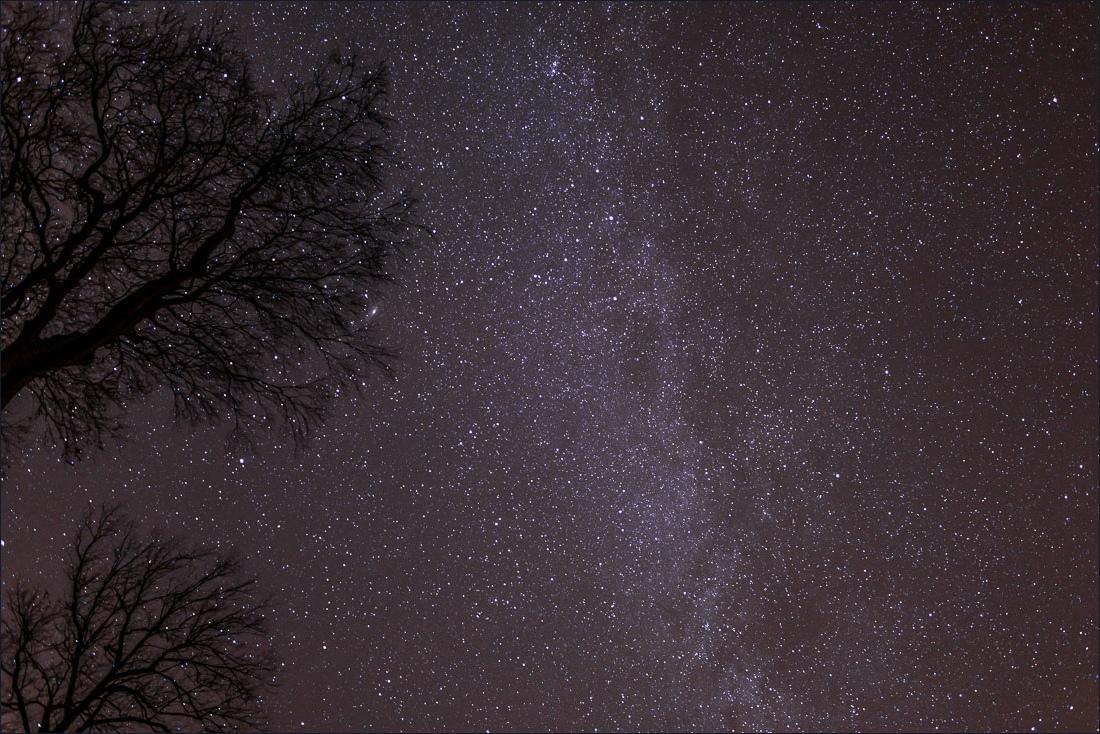 Night sky lake district