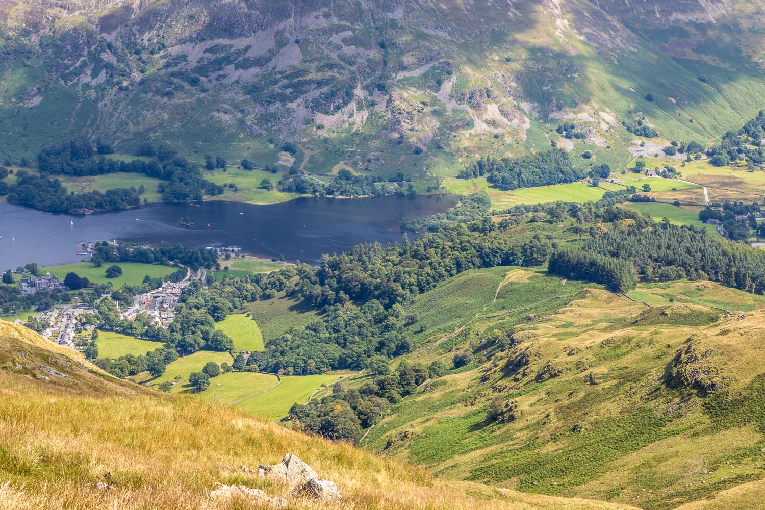 Glenridding and the head of Ullswater
