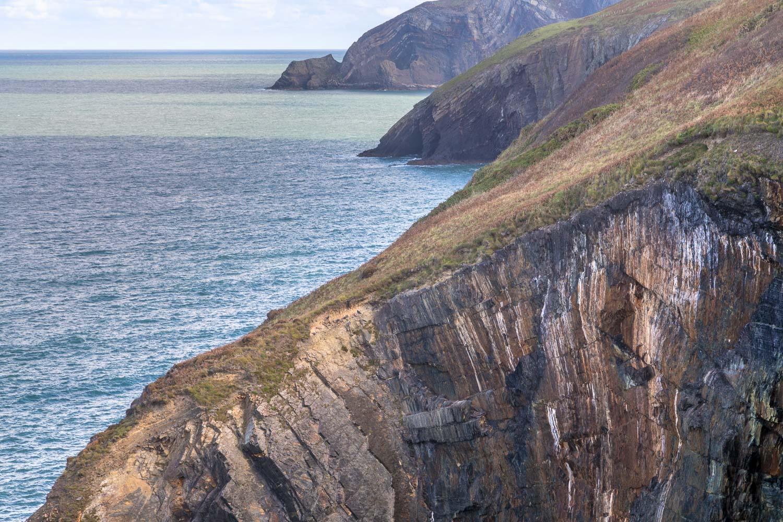 Ceibwr Bay cliffs