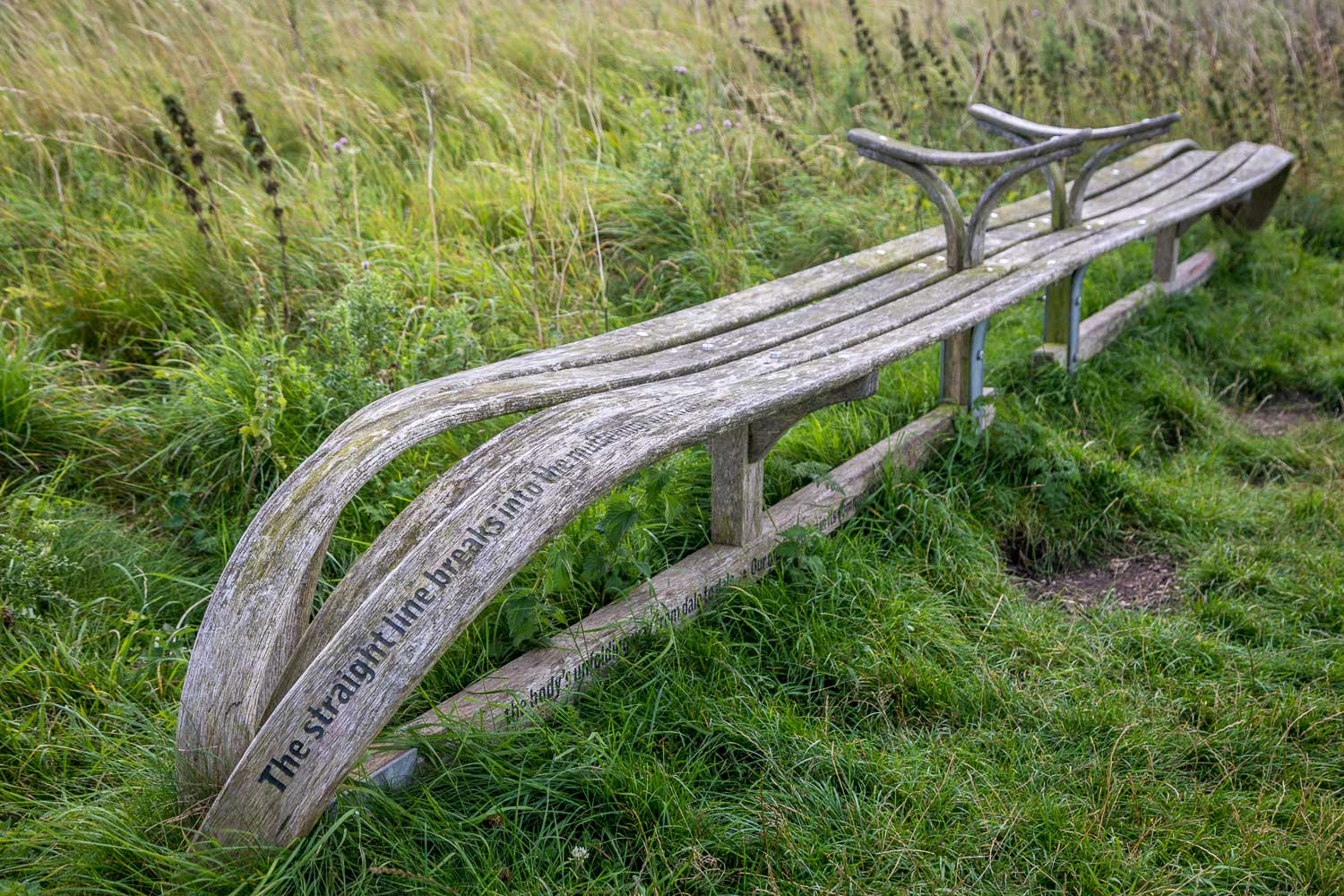 Chalkland Way, Poetry bench Millington
