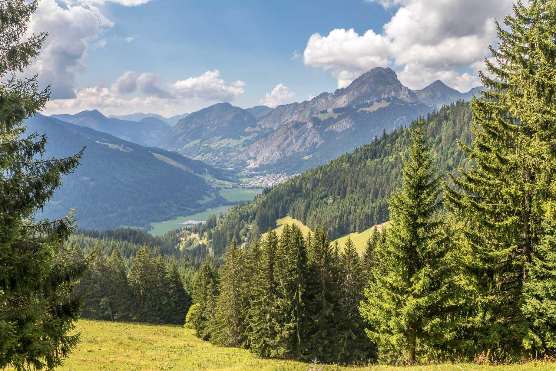 Abondance Valley from Col du Saix