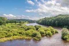 Corbridge walk, Corbridge Bridge, River Tyne