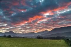 sunset over Lorton Vale