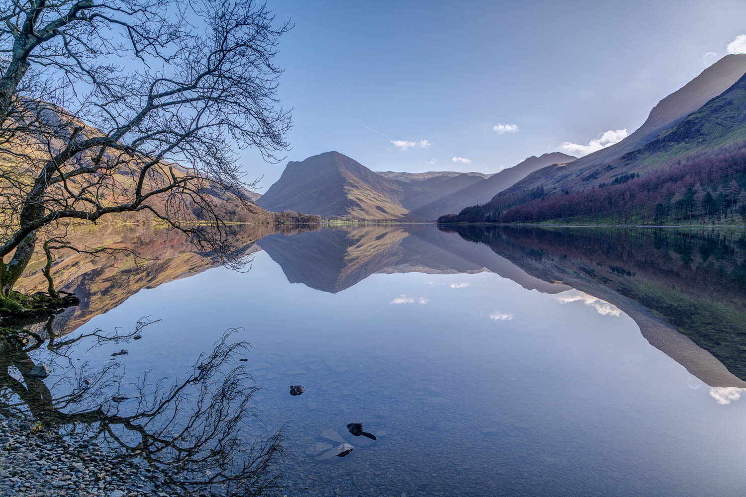 Buttermere, Fleetwith Pike, reflections