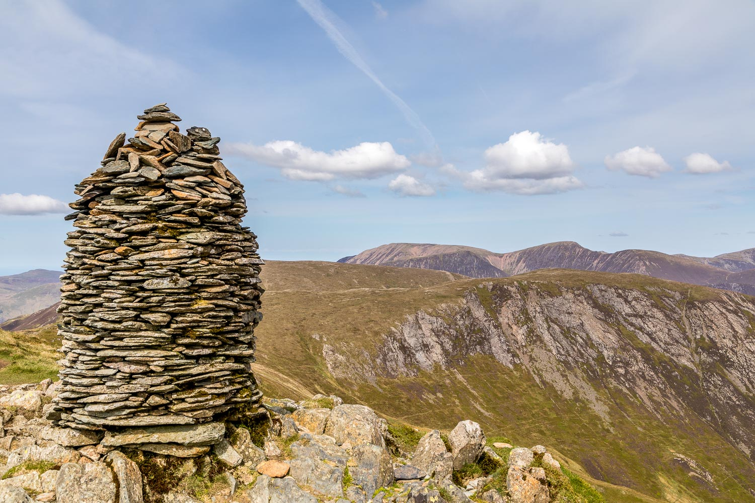 Dale Head walk summit cairn