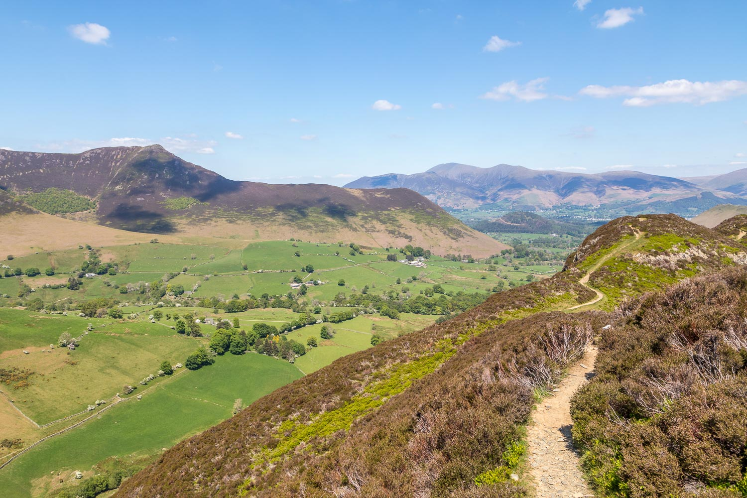 Newlands Valley and Causey Pike
