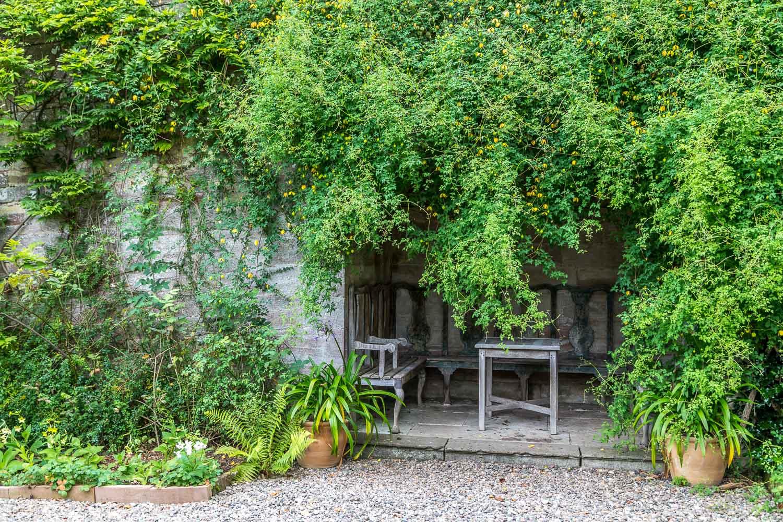Dalemain garden summerhouse