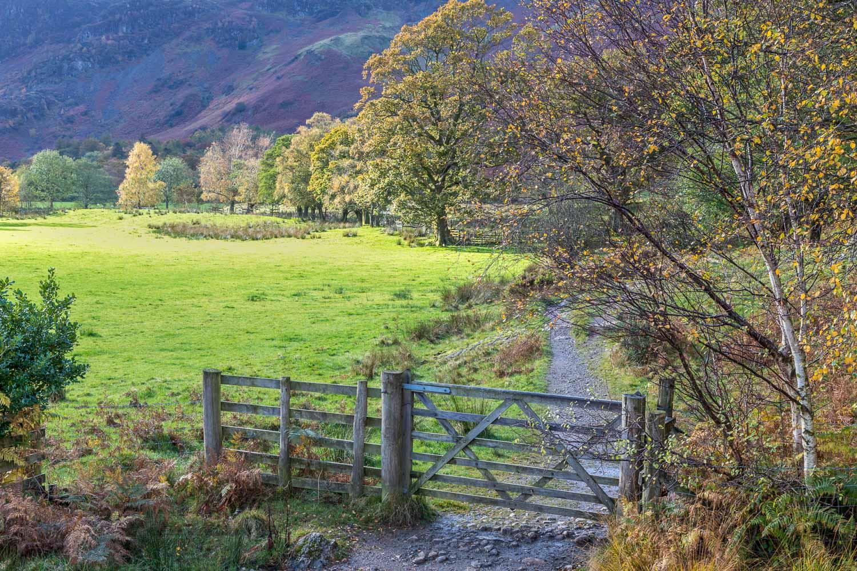 Cumbria Way, Derwent Water walk