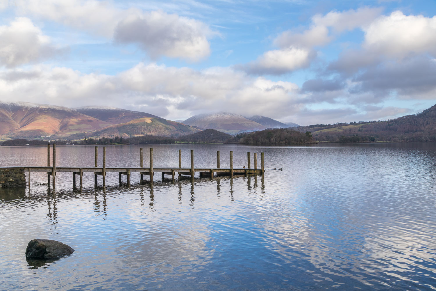 Derwent Water walk, Low Brandelhow, Blencathra
