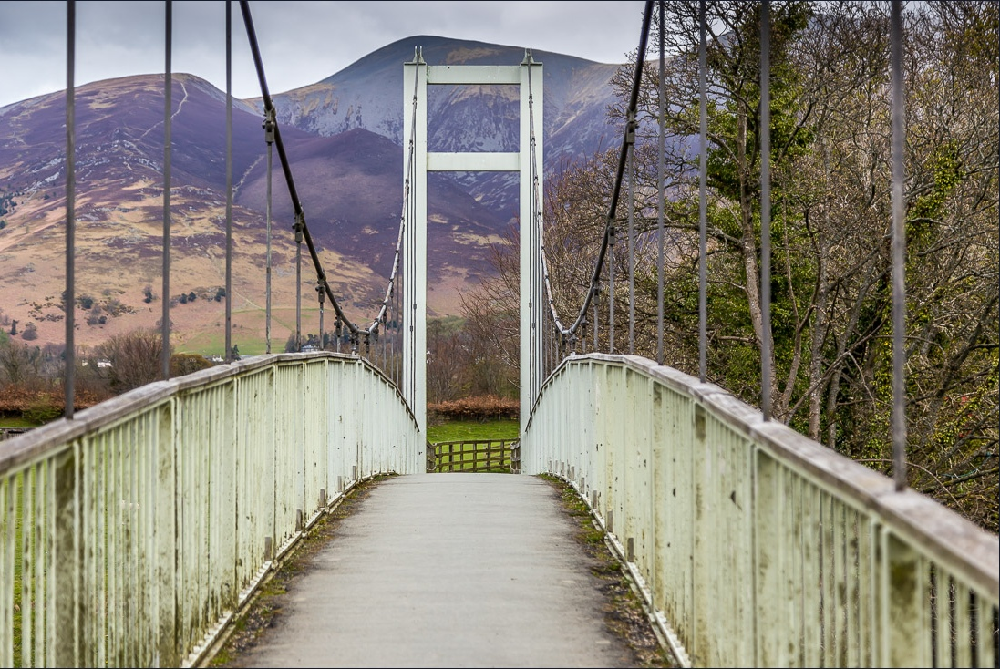 suspension bridge over the River Derwent