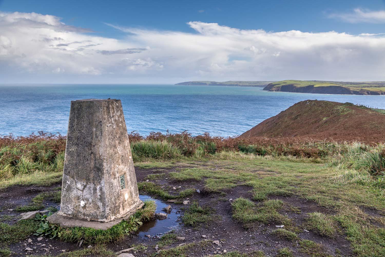 trig column, Pen y Fan, Dinas Island
