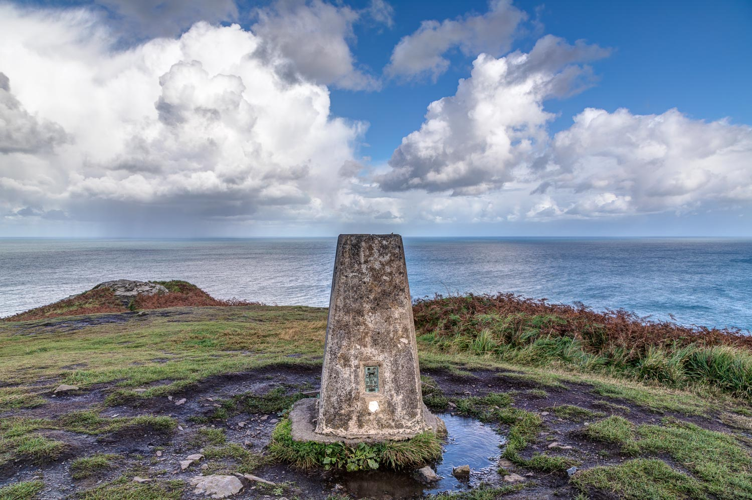 trig column, Pen y Fan, Dinas Island