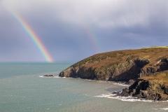 Dinas Island, rainbow