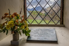 The Wainwright memorial, St James' Church Buttermere