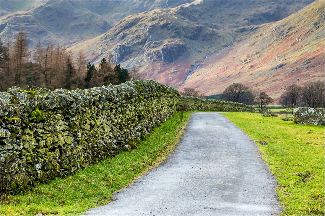Grisedale, dry stone wall