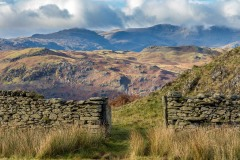 Dry stone wall lake district