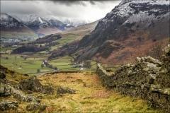 High Rigg, dry stone wall