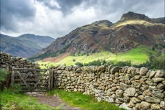 Great Langdale, dry stone wall