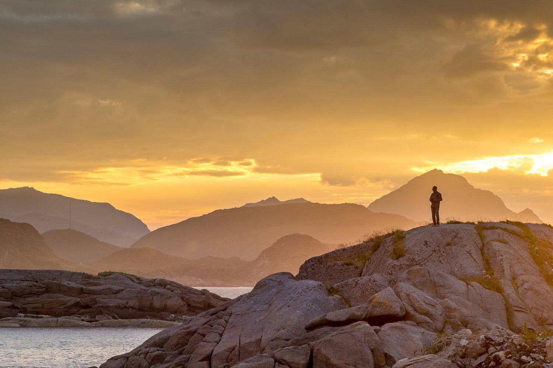 Mortsund, Lofoten, sunset