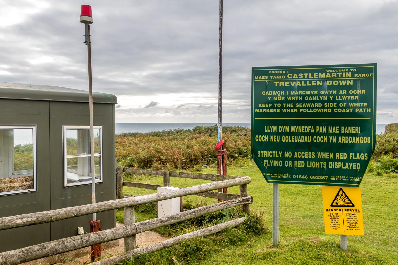 Castlemartin Range, Pembrokeshire Coast path