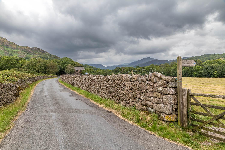 Eskdale valley road