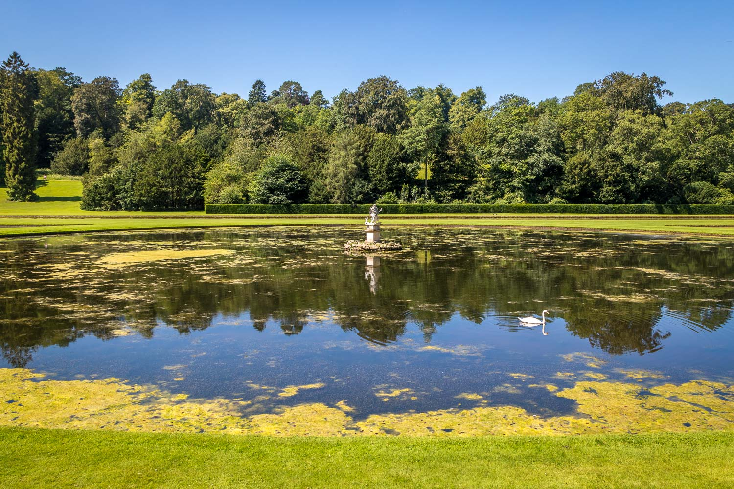 Moon Pond, Statue of Neptune, Studley Royal