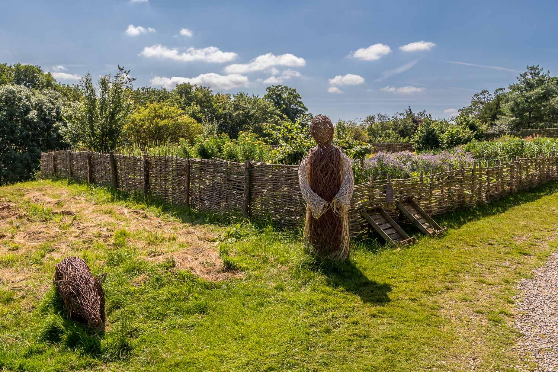 Swanley Grange vegetable garden. Fountains Abbey