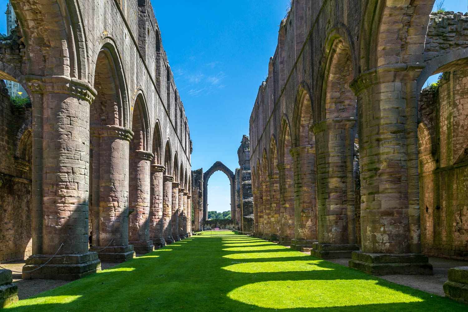 The nave, Fountains Abbey