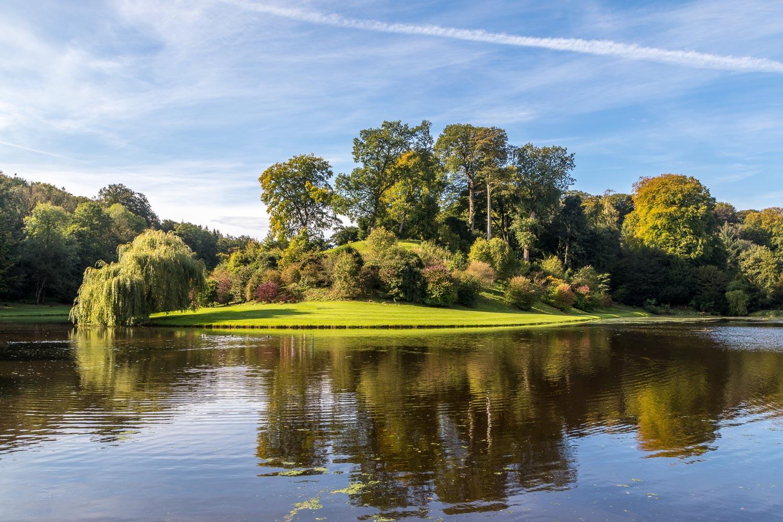 Studley Royal Water Garden, Half-Moon Reservoir