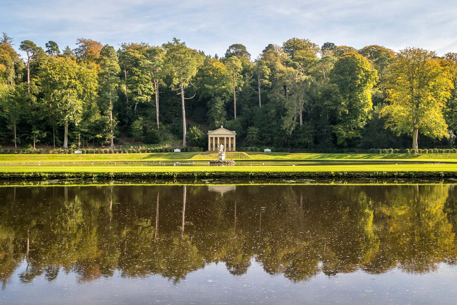 Temple of Piety, Moon Pond Studley Royal Water Garden