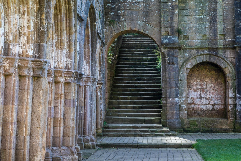 Fountains Abbey, cloister