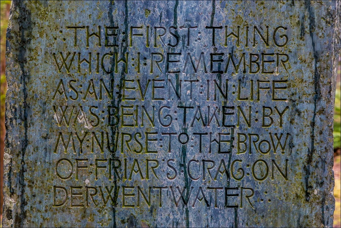 The words of John Ruskin on the Ruskin memorial stone
