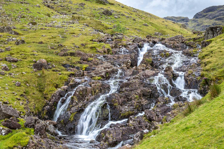 Glaramara walk, Combe Gill waterfall