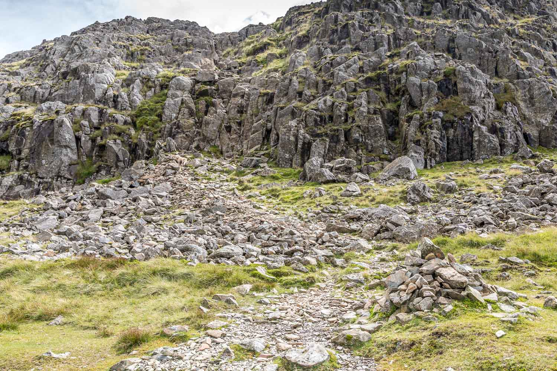 Glaramara walk, rock step