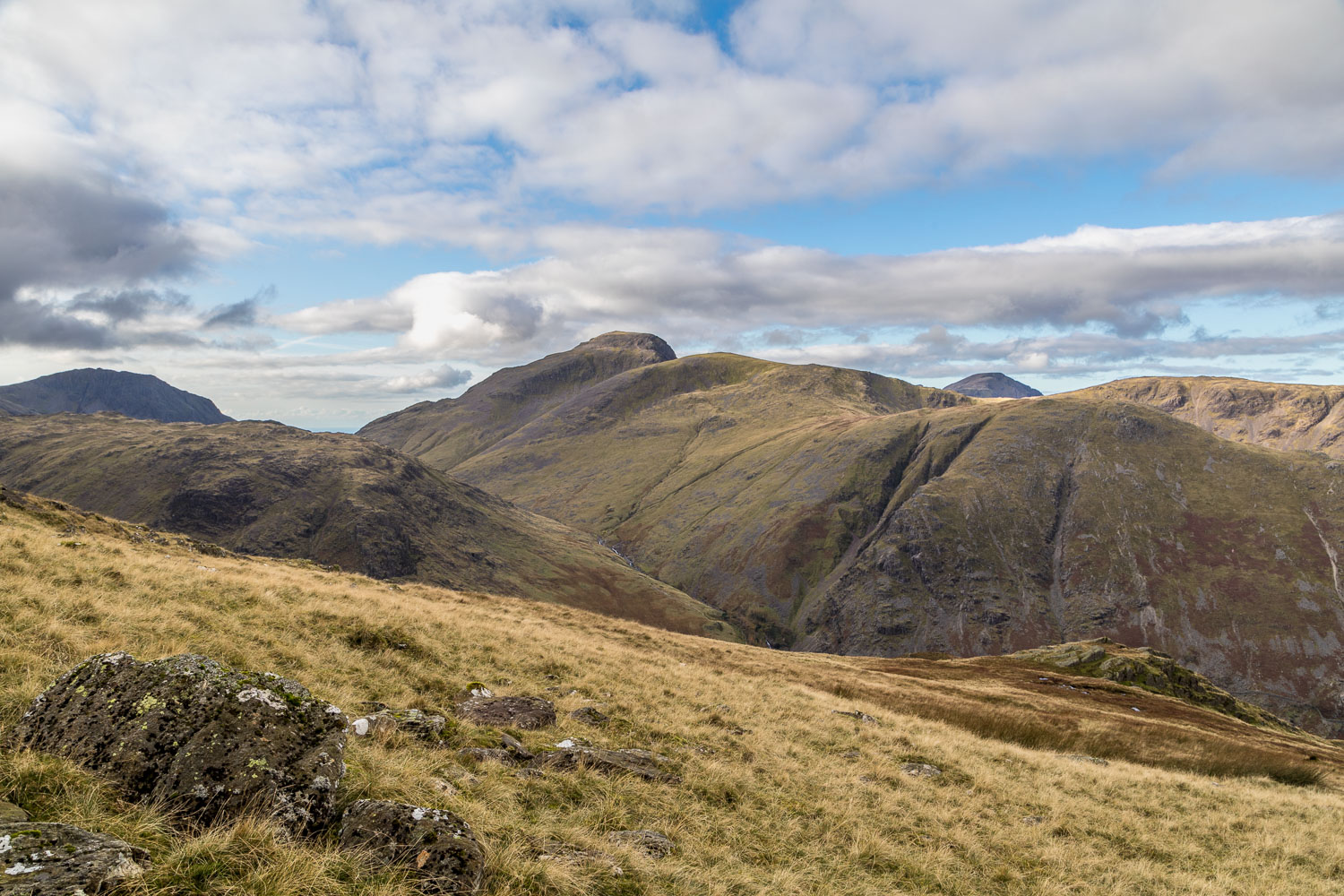 Great Gable, Glaramara walk, Hind Gill