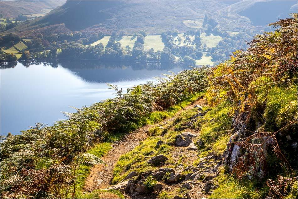 Gowbarrow Fell walk, Ullswater view