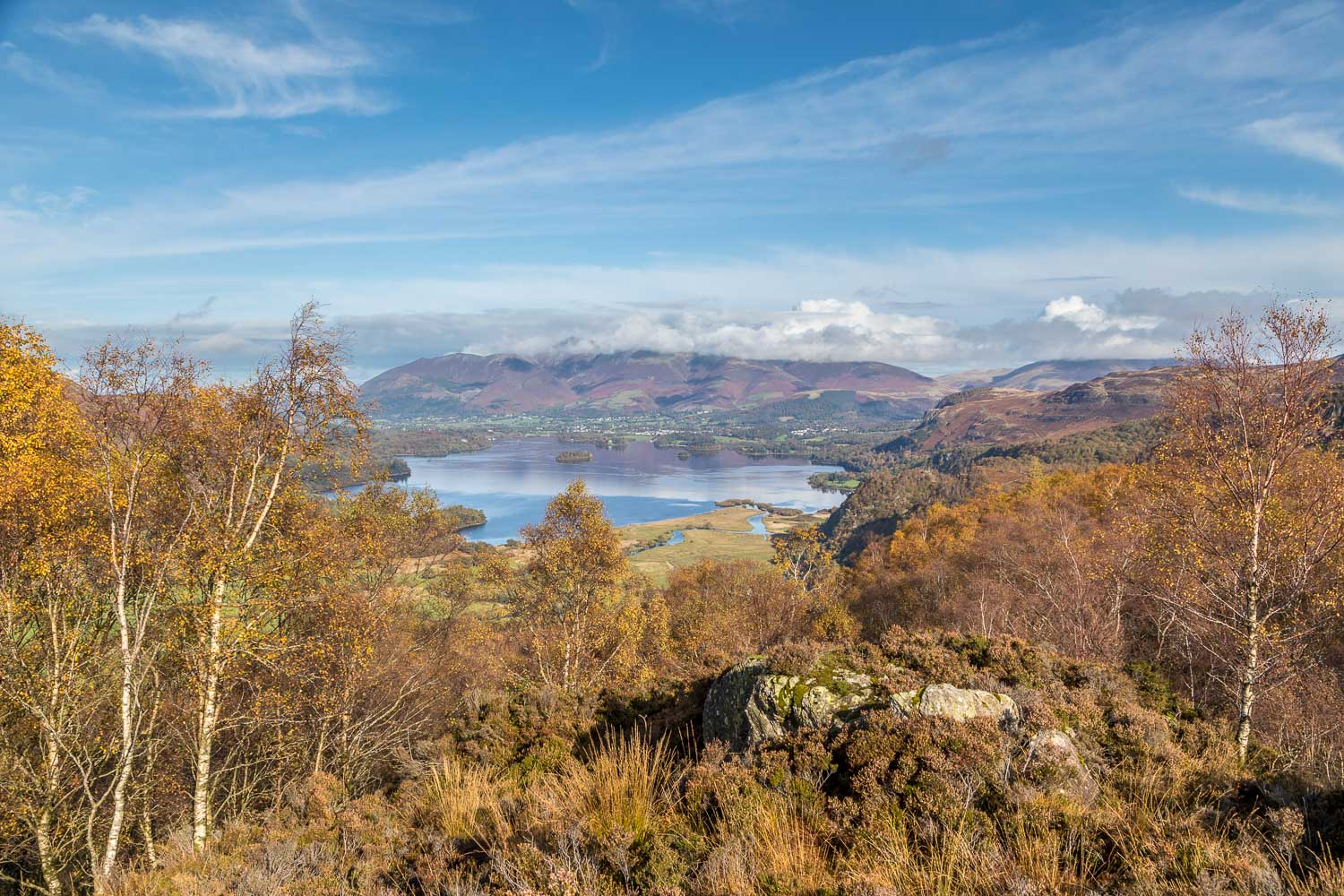 King's How, Derwent Water, Skiddaw
