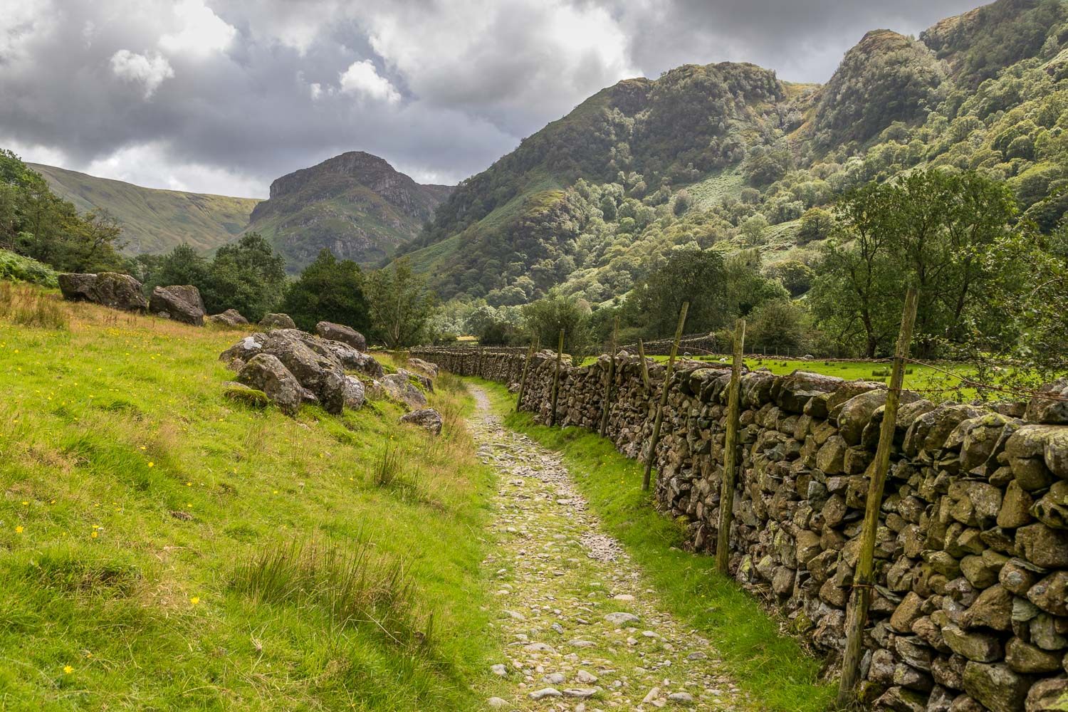 Great Crag walk, Eagle Crag, Borrowdale
