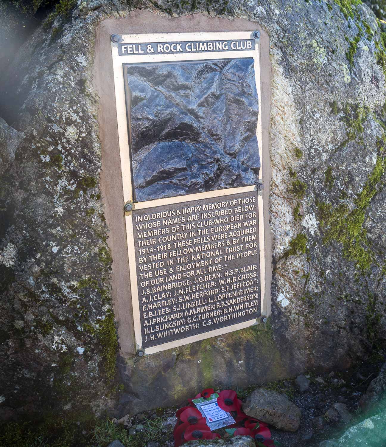 Great Gable War Memorial tablet