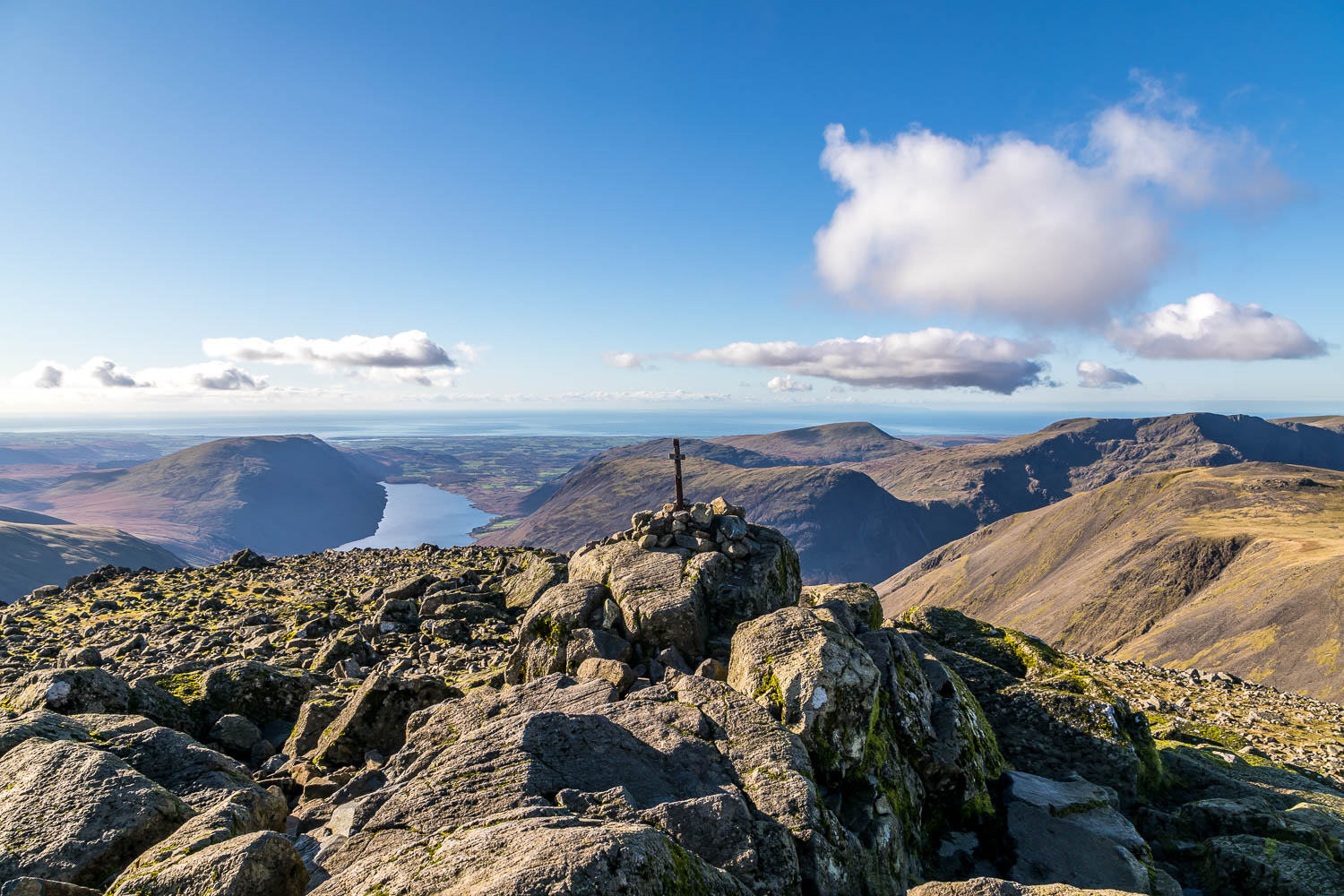 Summit cairn on Great Gable