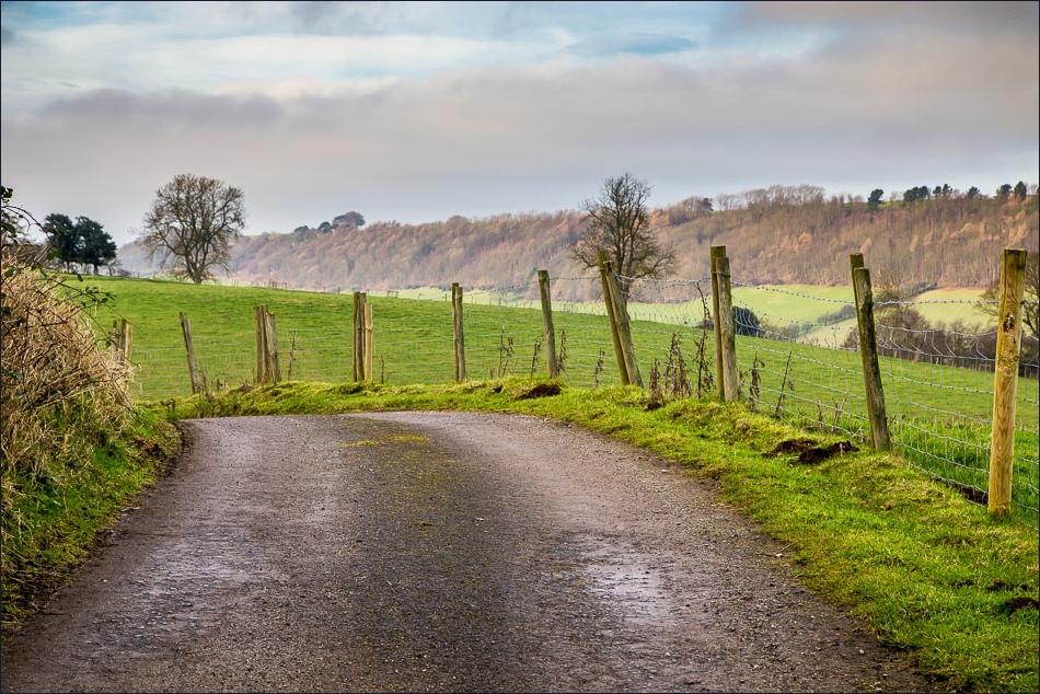 Hackness walk, track to Comb Slack Farm