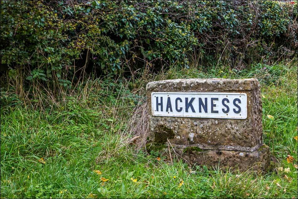 Hackness sign