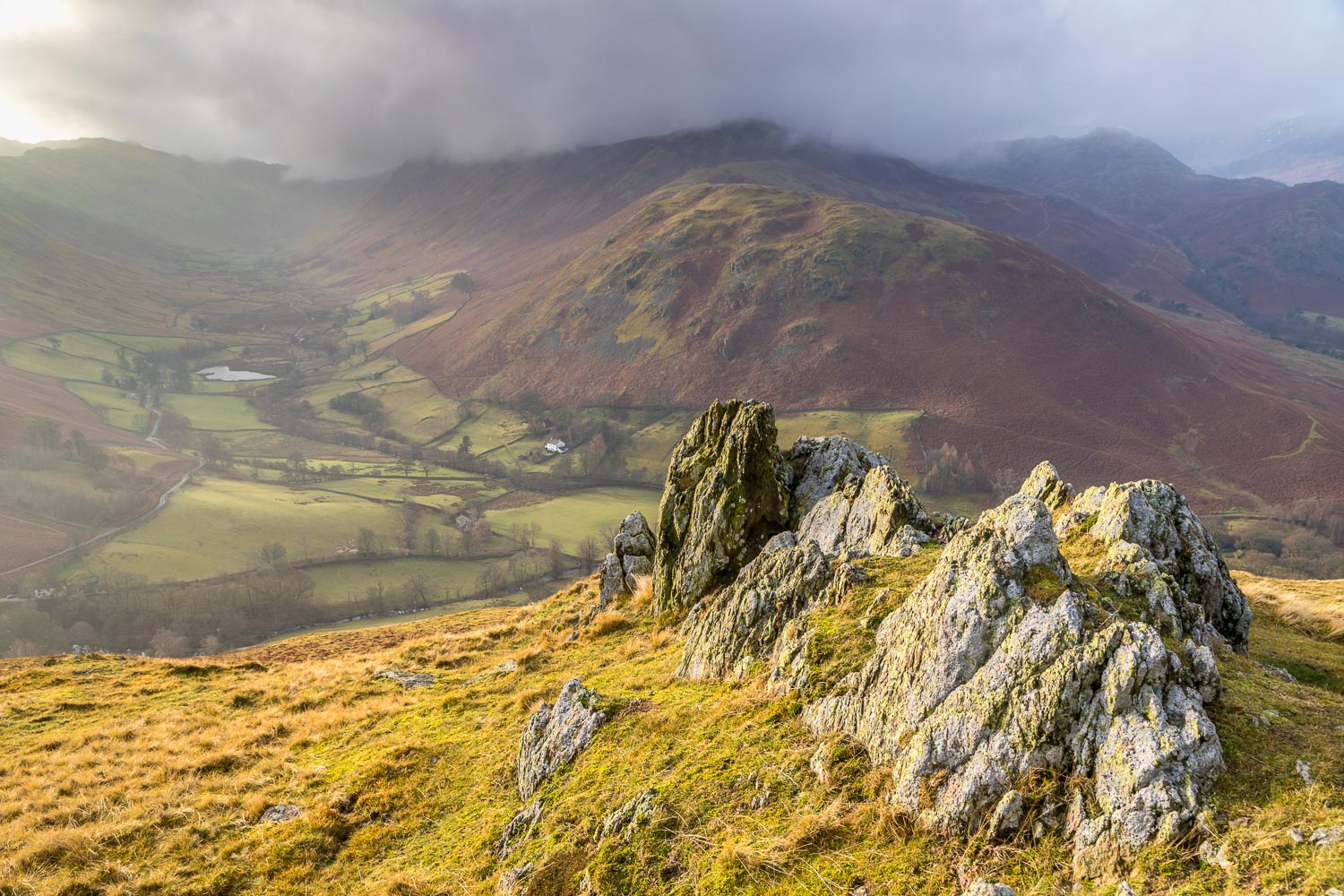 Hallin Fell summit, Boredale